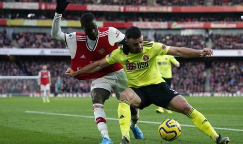 Арсенал отново изпусна успеха, след като поведе