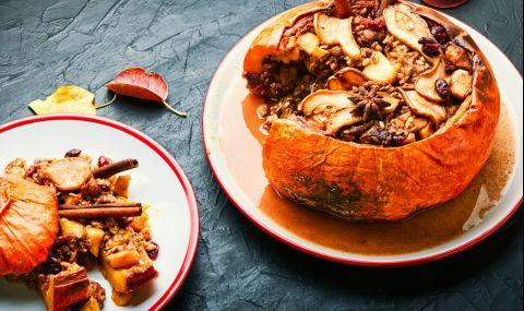 Рецепта на деня: Печена тиква със сушени плодове, ядки и локум