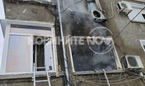 Евакуираха 12 души заради пожар в блок в Пловдив