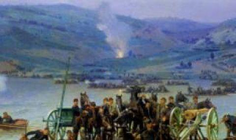 15 юни 1877 г. Руската армия преминава р. Дунав