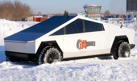 Какво може руският Cybertruck на сняг (ВИДЕО)
