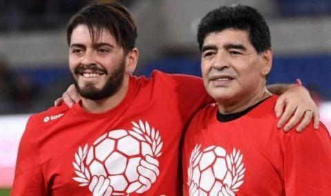 Първородният син на Марадона с призив относно номера на баща си