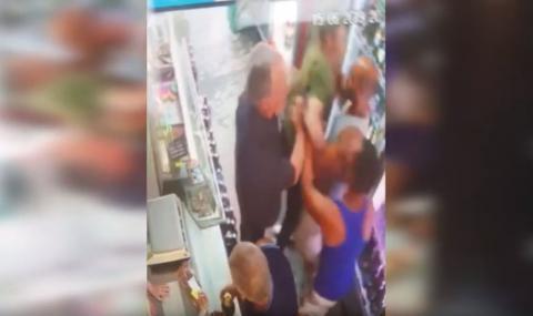 Побой в хранителен магазин в Казанлъшко (ВИДЕО)
