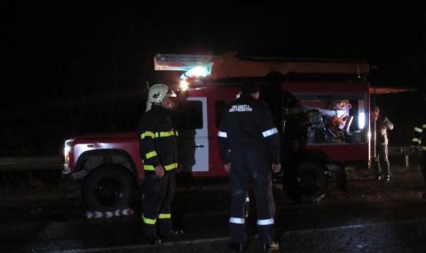 Загинал шофьор на пътя Созопол-Приморско, вадили трупа му от задната седалка