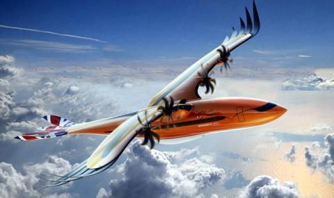 Самолет с пера и птича опашка