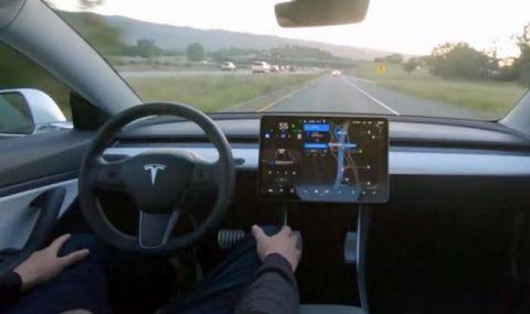Най-новият автопилот на Tesla FSDbeta v9 Pure Vision в реална обстановка (ВИДЕО)