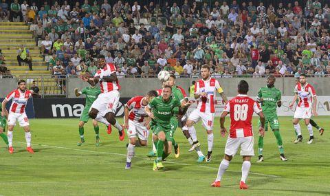 Цървена звезда респектира Лудогорец с 4 гола - 1