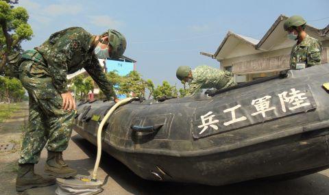 Тайван отмени полети, фериботни и влакови услуги заради наближаващия тайфун - 1