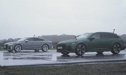 Кой е по-бърз: Audi RS6 или Audi RS7? (ВИДЕО)