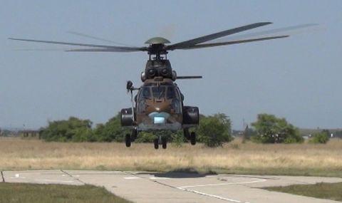 Хеликоптер се включва в гасенето на горския пожар край Твърдица - 1