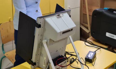 Председателят на РИК: Машинният вот в Добричко не е спрян