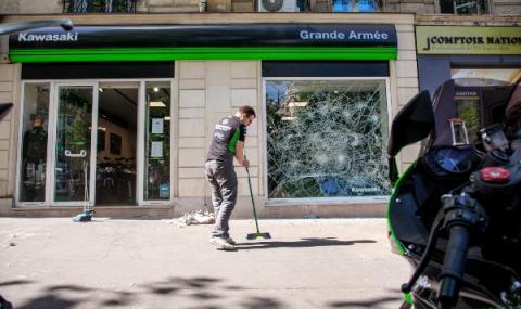 Сблъсъци и грабежи в центъра на Париж