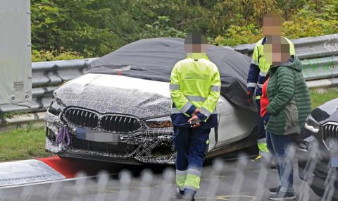 Мистериозен прототип на BMW се разби на Нюрбургринг