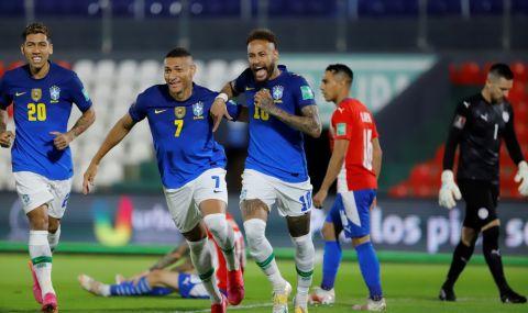 """Бразилия продължава да мачка, шеста поредна победа за """"селесао"""" (ВИДЕО)"""