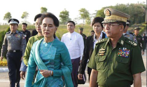 Лидерът на Мианма призова народа да се противопостави на военния преврат