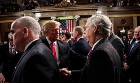 Чужд сред свои! Лидерите на републиканците в Сената са против идеята на Тръмп за отлагане на президентските избори