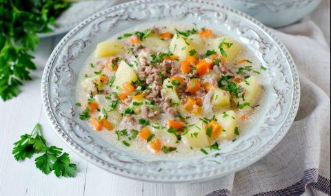 Рецепта за вечеря: Пръскана супа с кайма