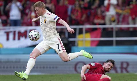 """UEFA EURO 2020:  Кевин де Бройне """"вдигна"""" Белгия за обрат срещу Дания - 1"""