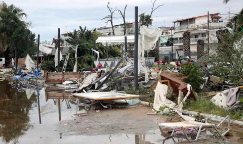 Дъждове и гръмотевични бури в Северна Гърция