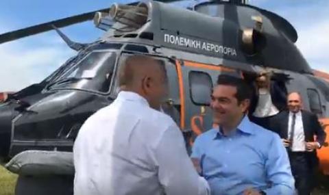 Борисов посрещна Ципрас, правят първа копка на газопровода (ВИДЕО)