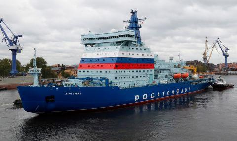 Русия прави краш тестове на атомни ледоразбивачи
