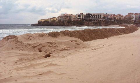 Концесионерът на Централен плаж-Созопол отговори за багера