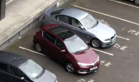 Титлата за най-лошо паркиране отива при… (ВИДЕО)