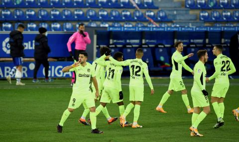 Атлетико Мадрид с важна победа, дошла по драматичен начин