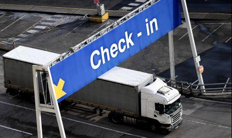 Британски протест с камиони