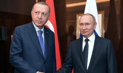 Путин и Ердоган с важен телефонен разговор