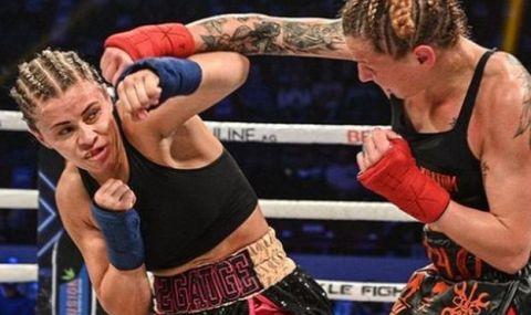 Сексапилна звезда на UFC се снима с интересен аксесоар