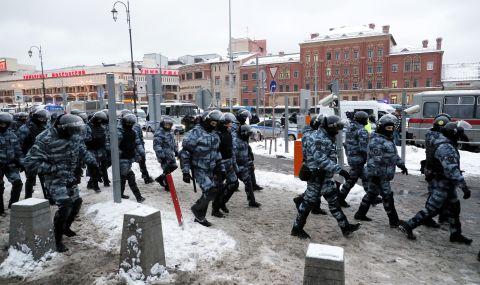 Протест в подкрепа на съпругата на Навални