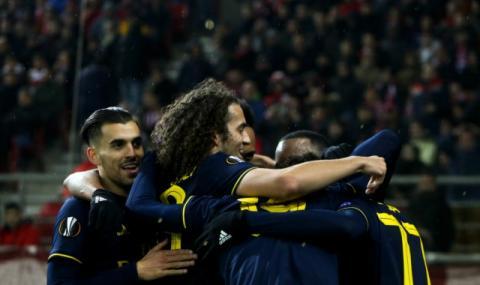 Арсенал взе крехък аванс срещу Олимпиакос