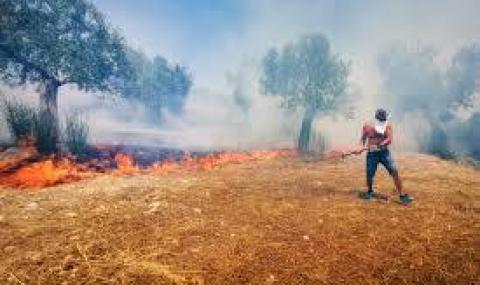 Опасност от пожари в седем области