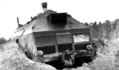 8-колесният бункер, който трябваше да посрещне ядрената война под земята