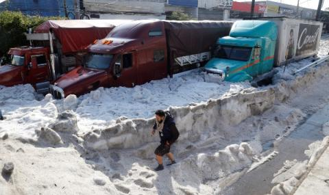 Градушка заледи град в Мексико