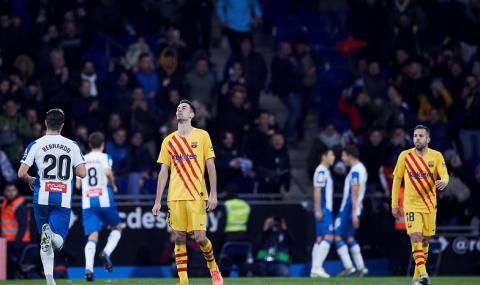 Барселона се издъни в каталунското дерби, а битката за титлата се ожесточава
