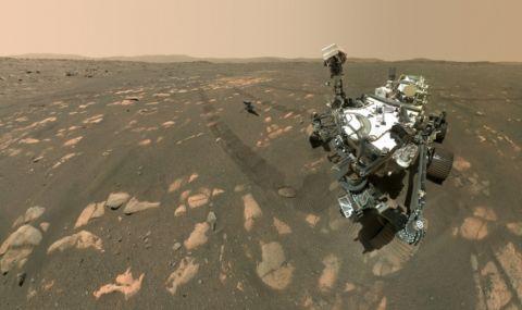 NASA показа селфи на роувъра и хеликоптера на Марс (СНИМКИ)