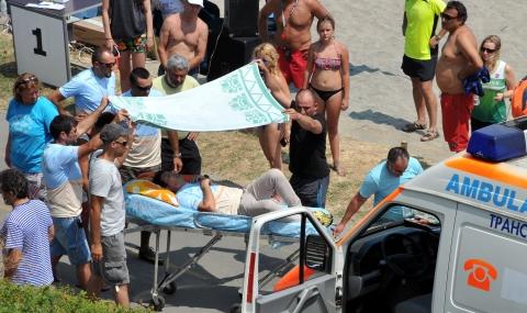 Инцидент с парапланерист в Бургас - 1