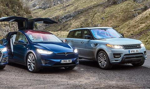 Скъпите Range Rover-и и Tesla са най-ненадеждните автомобили