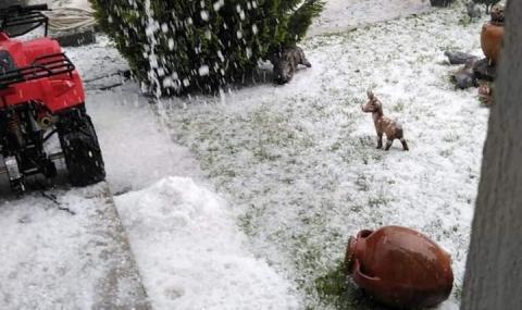 Силна градушка удари Северозападна България (ВИДЕО)