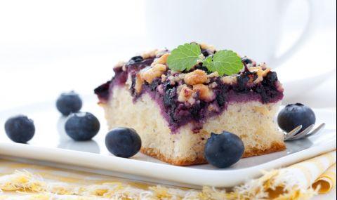 Рецепта на деня: Обърната торта с боровинки