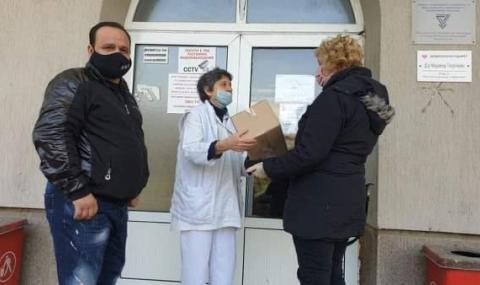 НФСБ с дарение за лекарите и жителите на Дупница, в Котел помагат като доброволци - 1