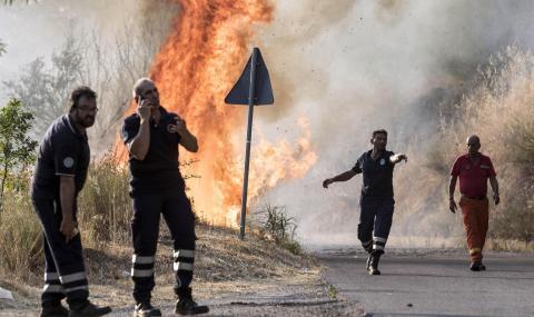 Голям пожар в Италия