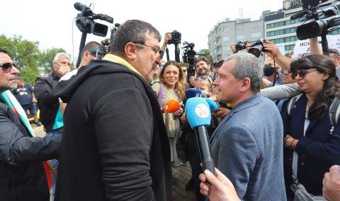 Протестиращи ресторантьори прогониха Тошко Йорданов и Мая Манолова - 1