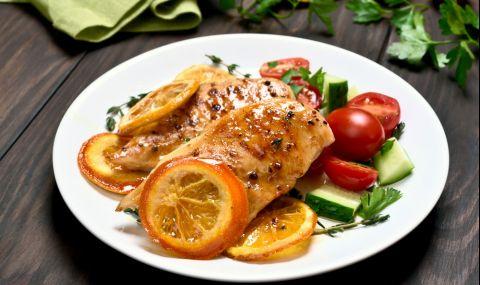 Рецепта за вечеря: Пилешки гърди с лимон и портокал