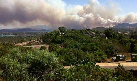 Остров Сардиния е обхванат от горски пожари - 1