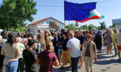 Село Стожер излезе на протест заради безводието - 1