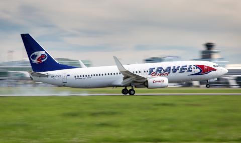 Аварийно кацане на самолет в Бургас