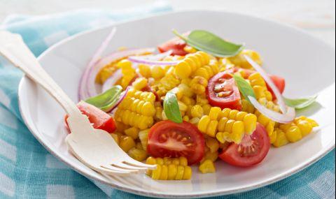 Рецепта за вечеря: Салата с печена на грил царевица - 1